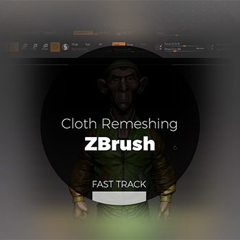 ZBrush - Cloth Remeshing
